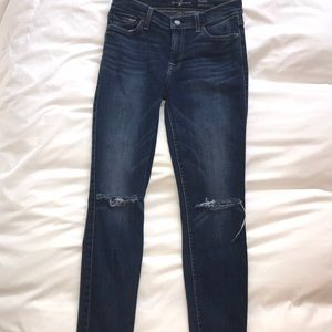 Beautiful pair of 7 for all mankind ankle skinnies